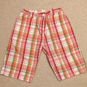 EUC Gymboree plaid Bermuda shorts